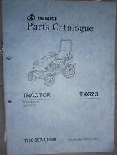 ISEKI tracteur TXG 23 - TXG23 : parts catalogue 2003