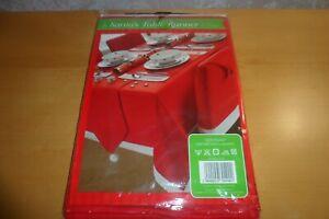 Christmas Dinner Table - Red Table Runner 33 x 183