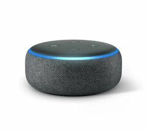 Amazon Echo Dot - 3rd Generation- Charcoal - Alexa Voice Smart Home Speaker