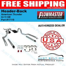 Flowmaster 64-72 GM American Thunder Header-Back System - Dual Rear Exit #17119