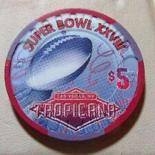 $5.00 Chip Tropicana Casino  Las Vegas, Nv.  Super bowl 1997