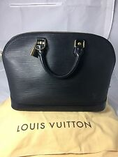 AUTHENTIC LOUIS VUITTON BLACK EPI ALMA PM WITH DUST BAG & LOCK