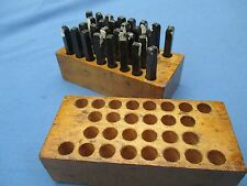 Ken Tool Box Of 28 Steel Punches For Leather And Wood All Lettersampersand