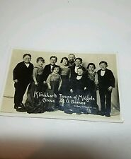 "Little People Barnes Circus RPPC Photo Postcard ""Klinkhart's Troupe of Midgets"""