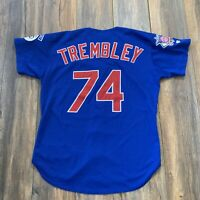 Rare Vintage CHICAGO CUBS Dave Trembley Game Worn MLB Jersey Harry Caray Patch