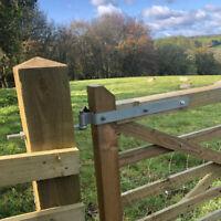 """24"""" (600mm) FIELD GATE HINGE SET HEAVY DUTY GALVANISED STEEL FARM FIXINGS HINGES"""