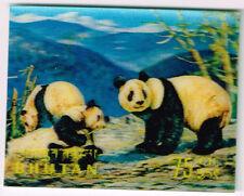 Bhutan Fauna Pandas 3D stamp 1969 MLH