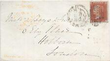 GB COVER 1856 SIDEWAYS DUPLEX 873 WEYMOUTH - LONDON RECEIVED 4/6/56.