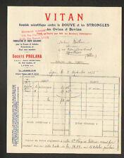 """LYON (69) Remede pour BOVINS & OVINS / Produit Vétérinaire """"Sté PROLANA"""" en 1935"""