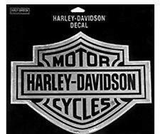 "HARLEY DAVIDSON CHROME Bar & Shield DECAL XXL Sticker Cornhole Game 16""x19"""
