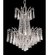 Palace Flamingo 4 Light Pendant Crystal Chandelier Lighting Chrome Fixture