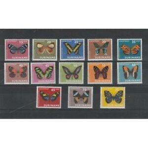 Suriname 1972 Fauna Butterflies 13 V MNH MF55321