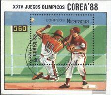 Nicaragua Blocco 177 (completa Edizione) usato 1988 Olympics. Estate `88, Seoul