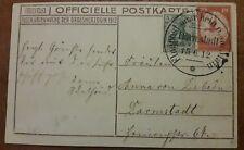Flugpost am Rhein und Main AK Karte Darmstadt 15.6.1912 Taube mit Brief (38