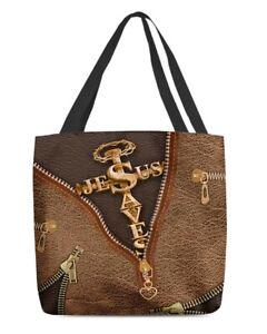 Jesus Save You Tote Bag Shoulder Bag God Canvas Tote Bag Gifts For Women