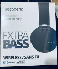 Sony Wireless Stereo Headset Extra Bass Bluetooth - Black - Mdr-Xb650Bt