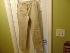 Charter Club Size 8 Neutral Color Casual Pants Rivet Sides Stretch Cotton
