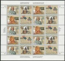 US, #2779-2782a NATIONAL POSTAL MUSEUM  29¢ Sheet of 20 stamps MNH Pl. A3-222222