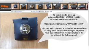 Batman Watch Dc Comics 1989