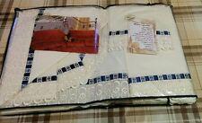 Completo letto lenzuola matrimoniale lavorazione artigianale bianco pizzo e raso