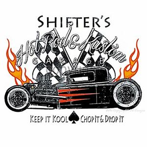 T-Shirt Hot Rod Vintage Kustom Automotiv Race Rat Oldtimer *1062 bl