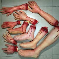 Decoration Horror Props  Lifesize Bloody Hand Halloween Costume Latex Toys