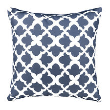 "Arabesque Charcoal 18"" / 45cm Outdoor Water Resistant Scatter Cushion Garden"