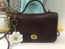 VINTAGE COACH 9924 SWEET PETITE BROWN CASINO BAG IN VG CONDITION Vegas Keychain