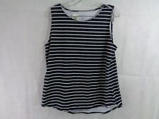 Charter Club Women's Blue Striped Tank Top Size Large NWT