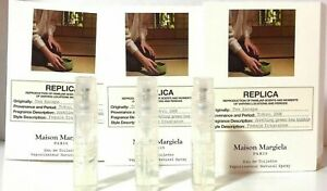Maison Martin Margiela Replica Tea Escape Sample Spray Vials 1.2ml .04oz Lot x 3