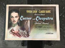 CAESAR AND CLEOPATRA - ORIGINAL PRESSBOOK WOW