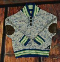Genuine Kids from Oshkosh Boys' Nordic Cardigan Sweater Elbow Patch Size 3T