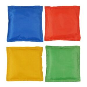 4 x Sports Polyester Bean Bags Throwing Catching Play PE Garden Games Juggling