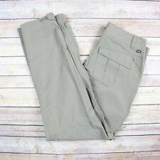 REI Women's Nylon Straight Leg Hiking Outdoor Pants SIZE 4 PETITE Green