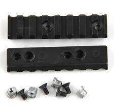 "(QTY 2) Keymod 8 Slot 3.1"" Picatinny/Weaver Rail Handguard Section Aluminum USA"
