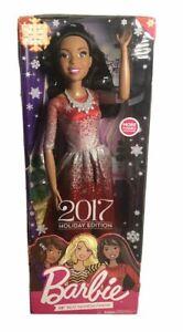 "Barbie 2017 Holiday Fashion Friend  Edition 28"" Brown Hair Doll"