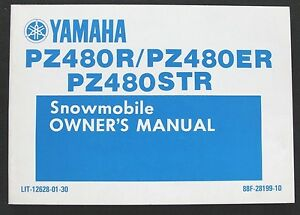 1990 1991 YAMAHA PZ480R PZ480ER PZ480STR SNOWMOBILE OPERATORS OWNERS MANUAL NICE