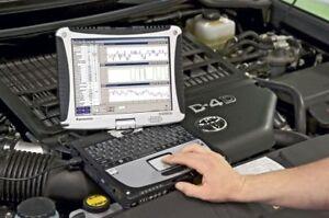 Valise de Diagnostique Auto + Pc Panasonic Toughbook CF-19 Windows 7 diagnostic