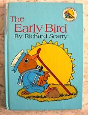 RARE Richard Scarry's The Early Bird 1968 Early Edition HC