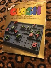 CLASH 1986 Pressman 2-player number strategy -complete NO INSTRUCTION Think Game