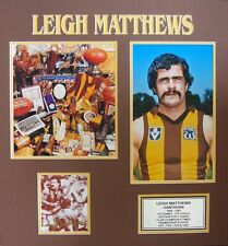 LEIGH MATTHEWS AFL HALL OF FAME SIGNED PHOTO BLACK FRAMED WITH CERTIFICATE