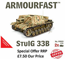 NEW Armourfast 1/72 German StuIG 33B Tank  Model Kit - Contains 2 Tanks - 99029