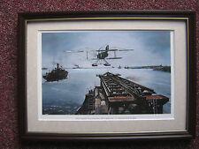 C. J. Ashford Aircraft print 'First Catapult Trials With Fairey Seaplane' FRAMED