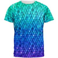 Halloween Mermaid Scales Costume All Over Mens T Shirt