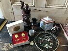Job Lot Vintage Chinese , Oriental Collectables, Statues, Chokin, Risis Eggs