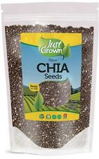 Just Grown Chia Seeds Bulk Pure Premium Raw Black 2 lb. (32 oz.) FREE Shipping