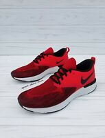 SIZE 15 MEN'S NIKE ODYSSEY REACT 2 FLYKNIT AH1015-600 RED BLACK RUNNING SHOES