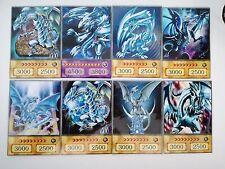 YuGiOh Orica/Anime Style 15 Karten Set Blauäugiger Drache,Blue-Eyes Dragon