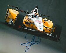 Oriol Servia signed 8x10 photo Irl Indy with Coa