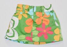 Baby Gap Multi-Color Mod Floral Print Green Skort Skirt w/Diaper Cover, 3-6 mos.